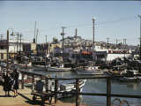 Boats Line Fishermans Wharf Photographic Print by Willard Culver