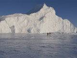 Tourists Explore Ice Formations Near Qaanaaq Photographic Print