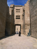 The Massive Mortuary Complex at Medinet Habu, Site of the Tomb of King Ramses Iii Photographic Print
