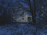 A Winter Evening View of the Quaker Hill House Photographic Print by Roy Gumpel