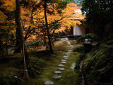 A Stone Path Leads to a Small Temple Pavilion Photographic Print by Sam Abell
