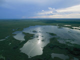 Aerial View Showing the Vast Wetlands of the Pantanal Photographic Print by Steve Winter