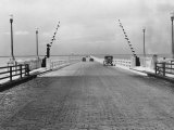 This Concrete Toll Bridge Across the Lake is Nearly Five Miles Long Photographic Print by Edwin L. Wisherd