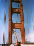 Repair Work Being Done on the Golden Gate Bridge in San Francisco Photographic Print by B. Anthony Stewart