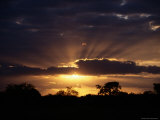 Sunset over Kruger National Park Photographic Print by Tim Laman