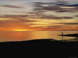 Sunset over a Distant Fisherman Photographic Print by Clarita Berger