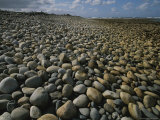 Stones Line a Beach on New Zealands South Island Photographic Print by Annie Griffiths