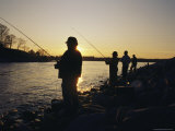 Men Fishing on Sardis Lake Near Oxfod, Mississippi Photographic Print by Stephen Alvarez