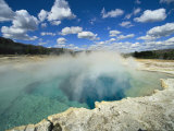 A View of the Sapphire Pool at the Biscuit Geyser Basin Photographic Print