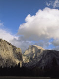 Cumulus Clouds Cast Shadows over Yosemites Half Dome Photographic Print by Marc Moritsch