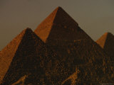 The Pyramids of Giza in the Late Afternoon Light Photographic Print by Kenneth Garrett