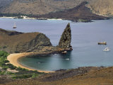 View of Pinnacle Rock on the Shoreline of Bartolome Island Photographic Print by Steve Winter