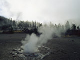 Steam Rises from a Geyser Photographic Print
