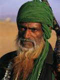 An Informal Portrait of an Indian Man with a Long Beard Photographic Print by Ed George