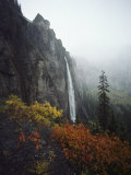 Bridal Veil Falls Plummets Down a Rock Cliff Near Telluride Photographic Print by Paul Chesley