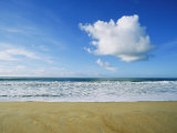 Beach, Ocean, Sky, and Clouds Above Cape Hatteras Photographic Print