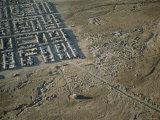 Aerial View of the Atacama Desert City of Calama Photographic Print