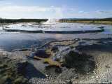 Steam Rises from a Geyser Basin Photographic Print by Norbert Rosing