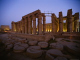 The Luxor Temple at Twilight Photographic Print by Kenneth Garrett