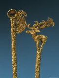 Two Gold Headdress Pins Recovered from a Royal Scythian Tomb Photographic Print by Sisse Brimberg