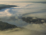 Elevated View of Clouds Blanketing the Missouri Mountains and Valleys Photographic Print by Sam Abell
