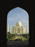 A View of the Taj Mahal Framed Through a Doorway Photographic Print by Ed George