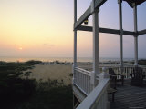 View of Sunset from the Deck of a Beach Cottage Photographic Print by Steve Winter