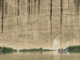 A Raft Floats on the Lazy Sections of the Yampa River Photographic Print by Stephen Alvarez