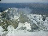 Mount Martin Emits Sulphurous Gases and Steam Lámina fotográfica por W.E. Garrett