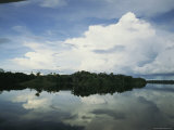 Sky Reflected in the Orinoco River in Venezuela Photographic Print by Ed George
