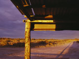 A Shady Porch Offers Shelter from Twilight Sun in the Simpson Desert Photographic Print by Medford Taylor