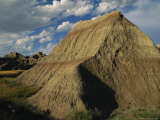 Wind, Water and Drought Erosion Carves Dramatic Peaks in the Badlands, Photographic Print
