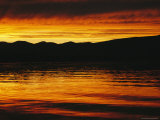 Sunset is Reflected in the Mackenzie River at Camsell Bend Photographic Print by Raymond Gehman