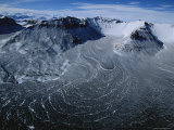 The Longest Rock Glacier in the Dry Valleys Descends into Beacon Valley Fotografie-Druck von Maria Stenzel
