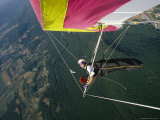 Skip Brown Self-Portrait Hang Gliding over the Cumberland Valley Photographic Print by Skip Brown