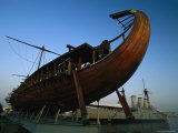Olympias, Replica of Ancient Greek Warship in Dry Dock Near Athens Photographic Print by James L. Stanfield