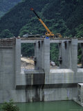 Dam Project Construction, Yang River Canyon, Shaoguan Area Photographic Print by Raymond Gehman