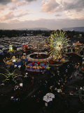 County Fair, Yakima Valley, Rides and Midway, Twilight View Photographic Print by Sisse Brimberg