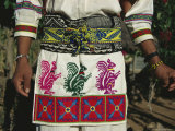A Shot of a Huichol Mans Traditional Outfit for the Peyote Pilgrimage That is Made Each Year Photographic Print by Maria Stenzel