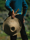 A Farmer Holding a Hat and Knife Near Guilin Photographic Print by Raymond Gehman