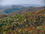 Fall Colors in Forests Along Tanners Ridge, with View of Massanutten Mountain Photographic Print by Raymond Gehman