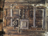 Detail of Old Lock and Hinges on Old Wood Photographic Print by Gordon Wiltsie