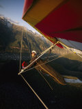 Hang Glider over Telluride, Colorado, This Self Portrait Photo is Taken by a Wing-Mounted Camera Photographic Print by Skip Brown