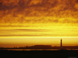 Pea Island Lighthouse at Dusk Photographic Print by Skip Brown