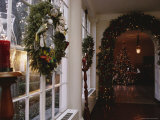 The East Colonnade is Decked with Wreaths, Garland, and Candles Photographic Print by Sisse Brimberg