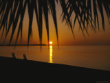 A Setting Sun is Reflected in Waters off of Walkers Cay Photographic Print by Clarita Berger
