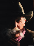 A Moody Portrait of a Smoking Cowboy at This Western Movie Location Photographic Print by Stephen St. John