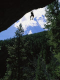 A Rock Climber Dangles from an Overhang in Kootenai Canyon Photographic Print by Gordon Wiltsie