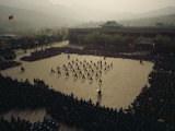 Students at the Ta Gou Academy in Shaolin Demonstrate Kung Fu Skills Photographic Print