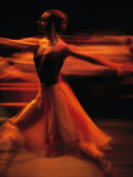 Portrait of a Ballet Dancer Bathed in Red Light, Nairobi, Kenya Photographic Print by Michael Nichols